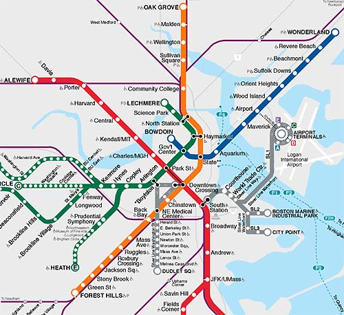 Silver Line - MBTA - Boston Innovation District - Seaport Waterfront Transportation