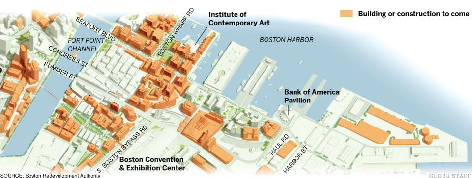Boston Waterfront Seaport District Boston's Innovation District Construction