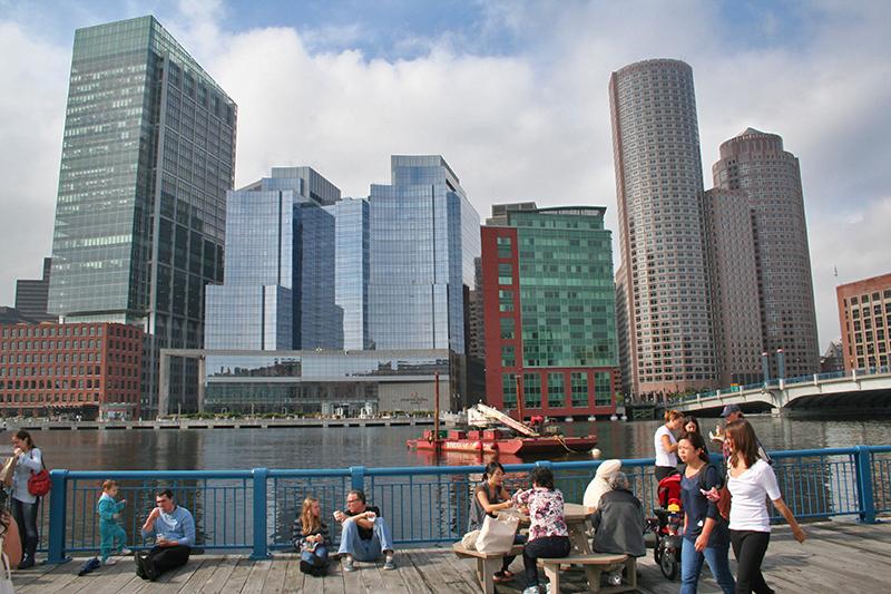 Boston's New Waterfront - Seaport District - South Boston Waterfront